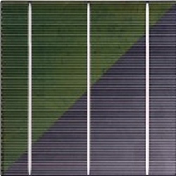 color solar cell diagonal cut