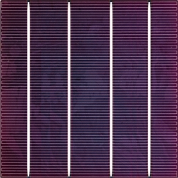 Color solar cell Lavender